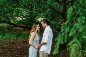 Engagement photography Cornell Botanical Garden