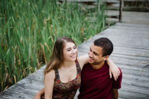 Couples photography Cornell Botanical Garden