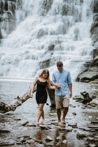Engagement photography Ithaca Falls