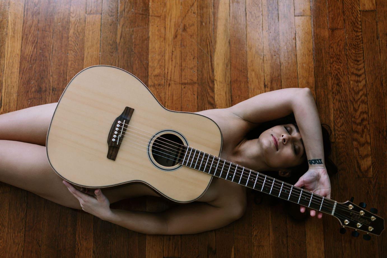 Guitar Boudoir Photography